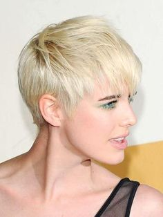 Pixie cut, I like the long bangs.