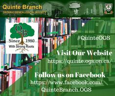 The Quinte Branch of the OGS covers the Bay of Quinte area (Hastings, Prince Edward and southeastern Northumberland Counties) and encourages, assists, and brings together all those interested in the pursuit of family history and tracing their genealogy. Family History, Genealogy, Ontario, The Unit