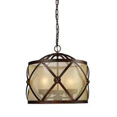 Cumberland Classic Bronze Three Light Pendant Elk Lighting Drum Pendant Lighting Ceiling L