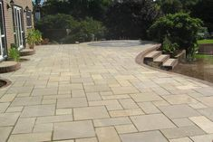 his natural orange limestone has an extremely hard texture and is also hard to recover in the quarry. As a consequence, Morisca limestone is an extraordinarily hard wearing natural stone. Limestone Patio, Patio Slabs, Garden Paving, Granite, Natural Stones, Paths, Garden Design, Sidewalk, Exterior