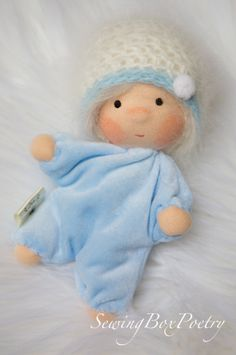 Waldorf inspired baby doll cloth doll tiny by SewingBoxPoetry