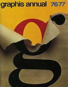 Arnold Saks, cover artwork for Graphis Annual 76/77. Zürich.