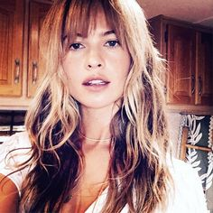 """Pin for Later: Rosie Huntington-Whiteley Gets a Lob For the New Year Behati Prinsloo Behati's Instagram caption was simply """"BANG....!!!!!!!"""" when she shared the first look of her sexy new fringe.  Source: Instagram user behatiprinsloo"""