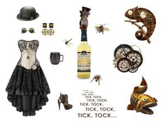 """""""I Do Believe It Is Tome For A Drink!"""" by browncoat4ever ❤ liked on Polyvore featuring Hella Cocktail Co., kangol, ZeroUV, HADES, Jean-Paul Gaultier and Mikasa"""