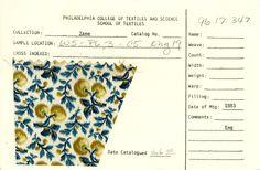 Faux-ikat cherry print on cotton. England. 1883.