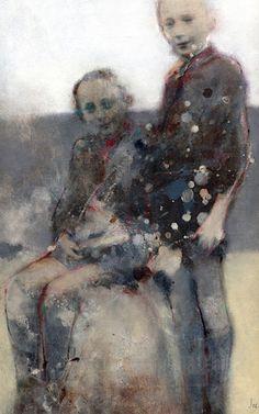 JEAN NOVIEL ::::: PEINTURES,  oil, ink, pencils, paints and canvas