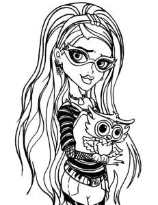 Ghoulia Yepls Who Was Bringing Pet Coloring Pages
