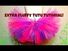 HOW TO MAKE A NO SEW TUTU - Extra fluffy!! - YouTube