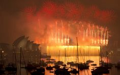 More than 10,000 aerial fireworks, 25,000 shooting comets and 100,000 pyrotechnic effects were used during the annual Sydney Harbour New Year's Eve show...