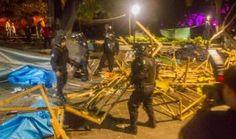 Retiran puestos ambulantes del Zócalo de Oaxaca
