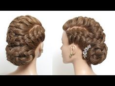 Braided hairstyle for long hair tutorial - Wedding Hairstyles Tree Braids Hairstyles, Smart Hairstyles, Bun Hairstyles For Long Hair, Short Hair Updo, Braided Hairstyles Tutorials, Trending Hairstyles, Braids For Long Hair, Cool Haircuts, Pretty Hairstyles