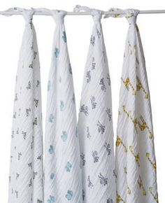 muslin swaddle wraps by aden and anais - these are a new mom must-have! $49