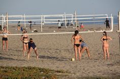 Volleyball on East Beach of Santa Barbara, Santa Barbara, CA - California Beaches