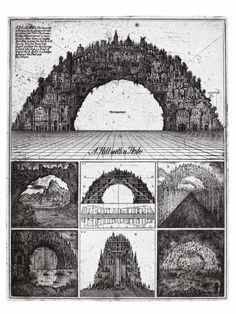 "Alexander Brodsky and Ilya Utkin, ""Hill with a Hole"" (1987/90) (courtesy of Ronald Feldman Fine Arts Inc)"
