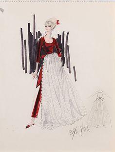 Edith Head sketch for Elke Sommer in The Oscar (1966)