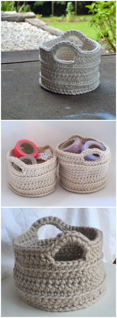 I am going to show you some #crochet #basket patterns which will increase your home décor!Chunky Crochet Basket