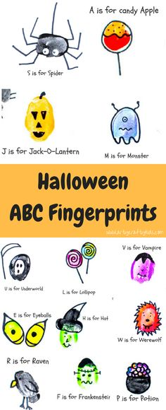 Arty Crafty Kids | Art | Halloween ABC Fingerprints | Give the alphabet a spooky twist with our Halloween themed ABC Fingerprint activity!