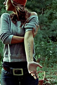Love the spot, love handwritten tats...imperfect and beautiful. I want another!!!