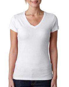 fddfa2830371d Next Level - T-Shirts - 3400L - Front V Neck Tee