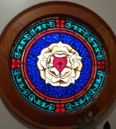 s Lutheran Church, Norlina, NC Reformation History, Luther Rose, Rose Patterns, Church Outreach, Cake Templates, Beautiful Symbols, 5th Grade Art, Church Windows, Church Banners