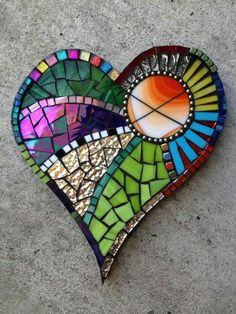 Mosaic Heart of Colour