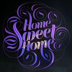 Home Sweet Home & Seb Lester lettering Calligraphy Letters, Typography Letters, Serif, Layout, Seb Lester, Inspiration Typographie, White Cottage, Lettering Design, Lettering Ideas