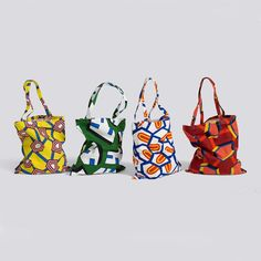 """A HAY """"Wrong for HAY"""" tote bag featuring an all-over print by designer Nathalie Du Pasquier. Cotton All Over Print x Printed Tote Bags, Cotton Tote Bags, Reusable Tote Bags, Nathalie Du Pasquier, Cloth Bags, Bag Accessories, Shopping Bag, Purses And Bags, Totes"""