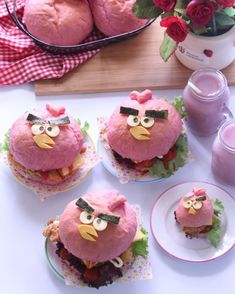 Angry birds burgers by dayling (@dltan15)