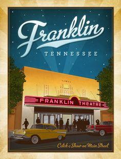 Franklin Posters, Franklin Prints, Vintage Franklin Posters, Franklin Art, Franklin Poster Designs