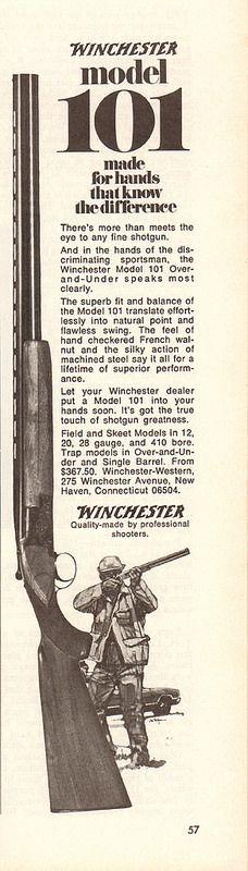 1971 Winchester Model 101 Shotgun Advertisement Time Magazine September 13 1971 | by SenseiAlan