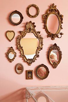 Italian Florentine Rose Wood Gold Ornate Mirror - Healty fitness home cleaning