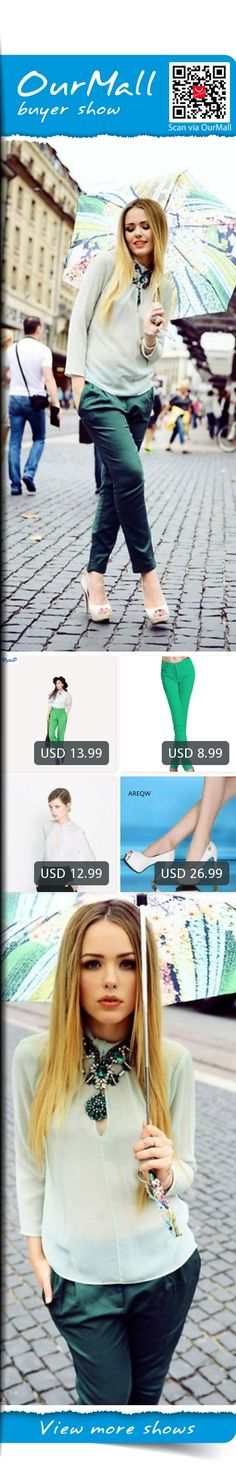 This is Kristina Bazan's buyer show in OurMall; totally wearing four items below: 1.Autumn Fashion Women Green Color Harem Pant All-match Pants Female Elastic Waist Trousers 2.Summer Grass Green Fashion Stretch Candy Colored Pencil Women's Pants Sexy Elastic Cotton 3.Euro ZA Brand...If you'd like to buy above, please click the picture for detail. http://ourmall.com/?Yru2U3 #shirt #blackshirt #whiteshirt #elegantshirt #chiffonshirt #plaidshirt #bandshirt #flareshirt