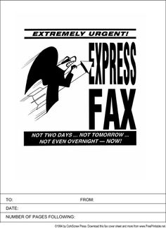This Basic Printable Fax Cover Sheet Has The Word Fax In Large