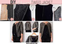 DIY sewing   Chaqueta estilo chanel   Chanel tweed jacket