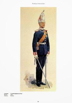 German; 1st Regiment Foot Guards, Lieutenant, c.1900. Raised 1688. Home Depot Potsdam. Guard Corps.