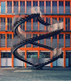 """""""Never ending Staircase"""" Sculpture outside the KPMG building in Munich."""