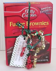 {Fudge brownie mix} 'FUDGE' a little on the calories and enjoy the Holiday Season!