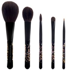 CHIKUHODO The Sakura Collection by Chikuhodo x Beautylish | This limited edition collaboration between Chikuhodo and Beautylish features five exquisite brushes – designed by us and handcrafted in Japan. | A Powder brush, made of Saikoho goat hair and gray squirrel. Perfect for contouring, highlighting, and applying a setting powder. The soft angle allows you to emphasize your most flattering facial features without disturbing your foundation.  | $215