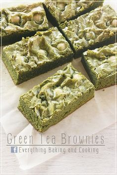 ~ Everything Baking and Cooking ~: White Chocolate Green Tea Brownies / กรีนนี่ (บราวนี่) ชาเขียวไวท์ช็อกโกแลต