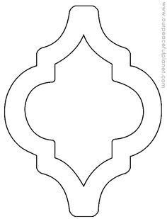 Ramadan Crafts, Ramadan Decorations, Shape Templates, Shape Patterns, Islamic Art Pattern, Pattern Art, Stencil Diy, Stencil Designs, Stencil Patterns Letters