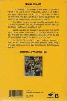 Les Intégrales du Masque - Laird Koening - Volume 2 - Verso - Novembre 1996