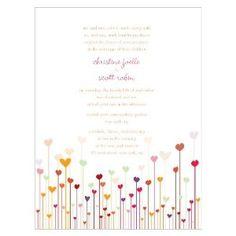 Personalized Hearts Wedding Invitations W1018-19 Quantity of 1: Amazon.ca: Home & Garden