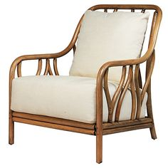 Ricky Rattan Lounge Chair, Nutmeg $1,089.00