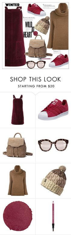 """Velvet"" by ucetmal-1 ❤ liked on Polyvore featuring Topshop, adidas, Dolce&Gabbana, Agnona, Patagonia, Lipstick Queen and Shiseido"