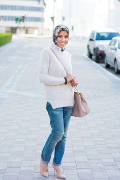 HH Style Guide: Chunky Sweater + Neutrals at Market OTB Dubai – Haute Hijab