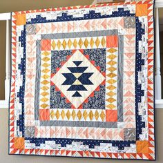 Desert Blooms medallion quilt pattern from @owensolivia book #quiltingfromeveryangle