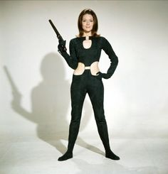 "Diana Rigg - As Emma Peel in the terrific 1960's British TV show ""The Avengers"""