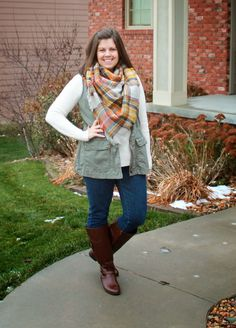 Clothed with Grace: How to Wear: A Blanket Scarf