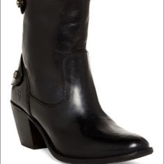 New Frye  Jackie Boots Be ready for fall and winter!Super Cute Black Frye Boots. Never worn. Pet Free Smoke Free Home. Frye Shoes