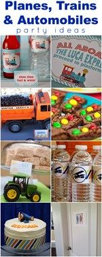 Calling all boy moms! Tons of planes, trains, truck and car party ideas. Pin for ideas when birthday time comes! www.weheartparties.com